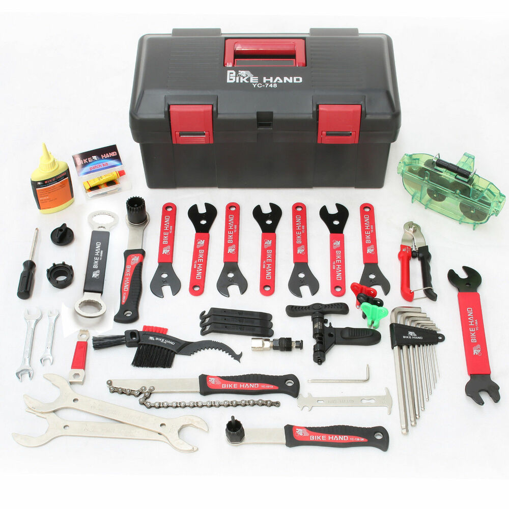 bikehand complete bike bicycle repair tools tool kit set ebay. Black Bedroom Furniture Sets. Home Design Ideas