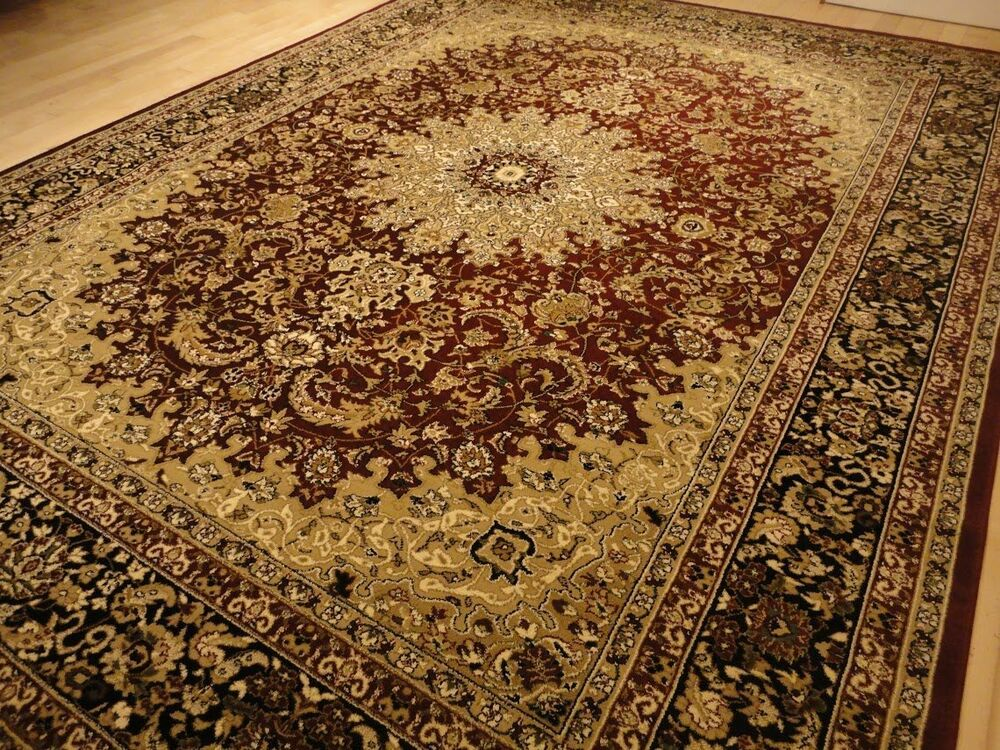 Red persian style 8x11 oriental area rug 8x10 carpet for Area carpets and rugs