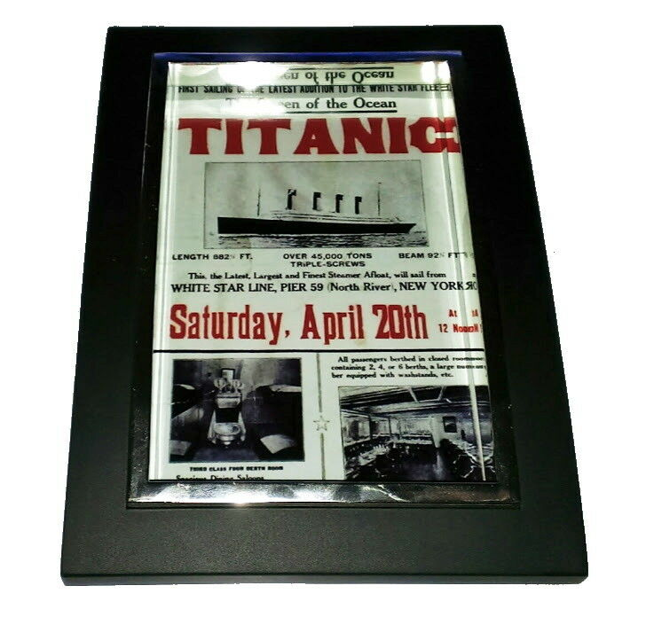 Canada S Man Cave Store Ottawa : Mini titanic poster nice framed art print display