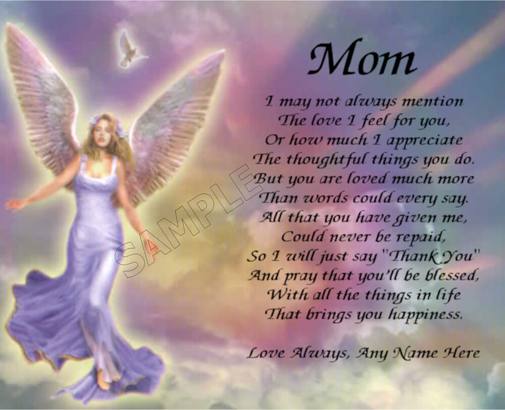 MOM PERSONALIZED ART POEM MEMORY BIRTHDAY MOTHER'S DAY ...