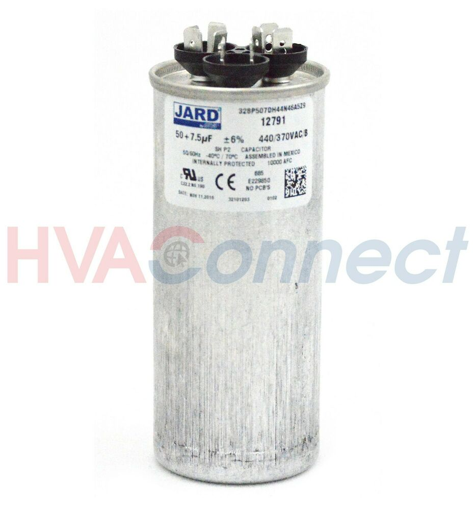 a round dual capacitor wiring dual run capacitor 50 7 5 mfd 440v round fits trane