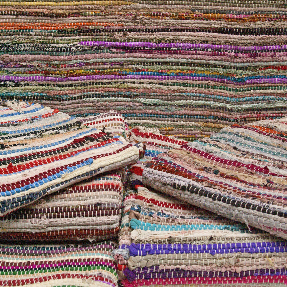 Large Rag Rugs For Sale Uk: Recycled Cotton Chindi Rag Rugs, Multi Coloured, Handmade