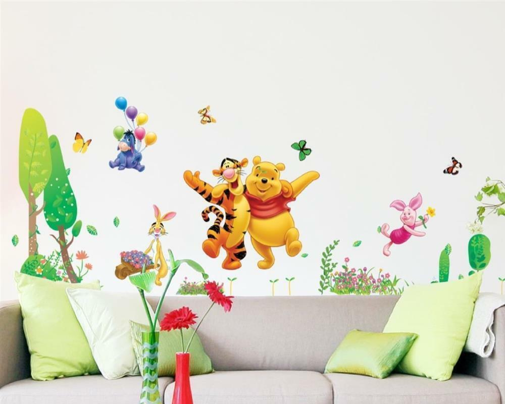 wandtattoo wandsticker wandaufkleber winnie puuh pooh tiger ferkel s ss xxl w004 ebay. Black Bedroom Furniture Sets. Home Design Ideas