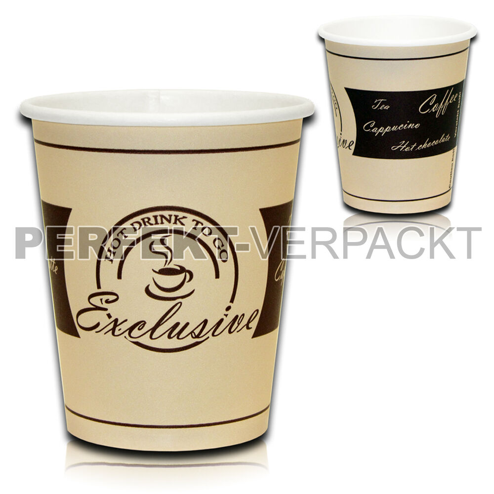 1000 kaffeebecher exclusive 0 2l coffee to go becher. Black Bedroom Furniture Sets. Home Design Ideas