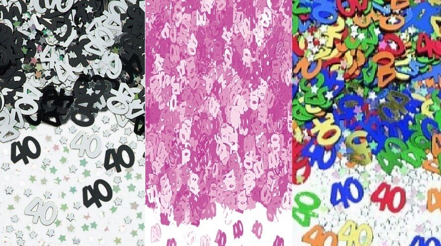 1 pack 40th birthday confetti table sprinkles pink for 40th birthday decoration packs