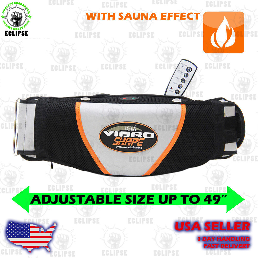 vibro shape belt vibrating massage belt with sauna effect ebay. Black Bedroom Furniture Sets. Home Design Ideas