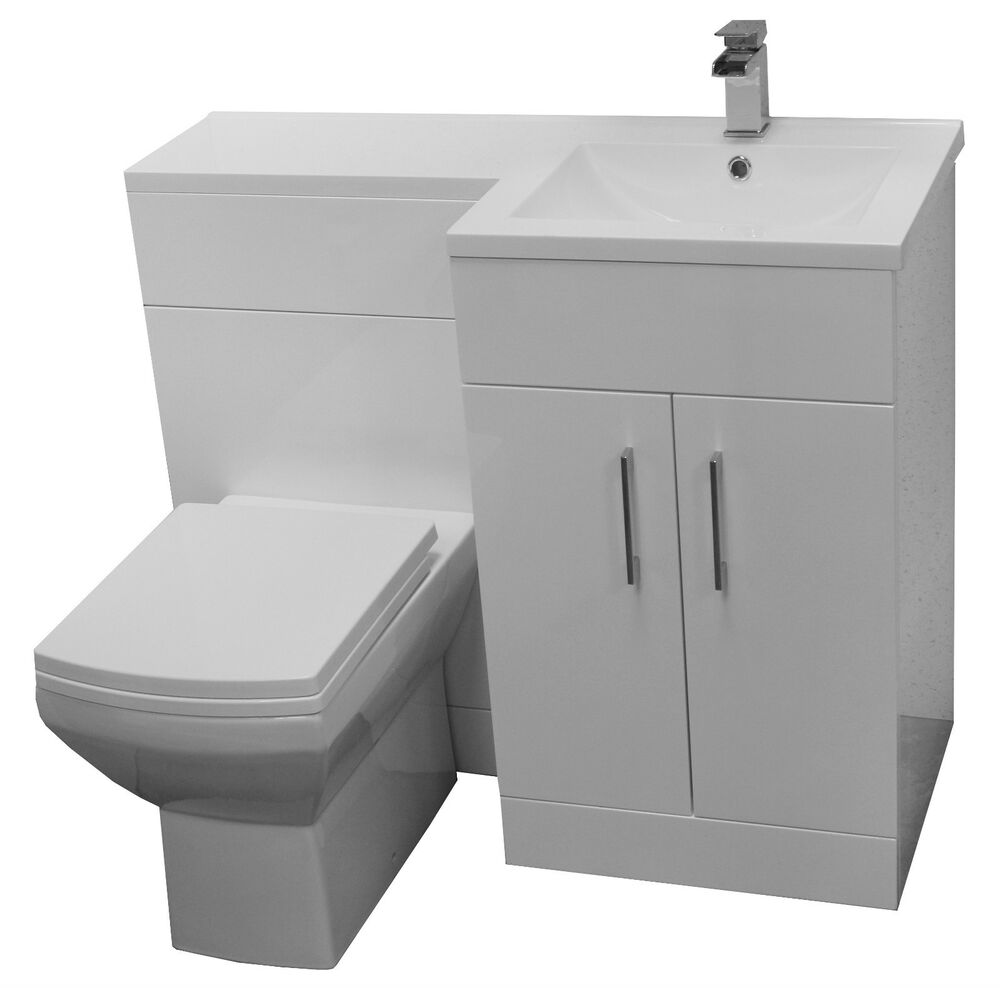 toilet basin one piece bathroom furniture combination soft close with mixer tap ebay. Black Bedroom Furniture Sets. Home Design Ideas