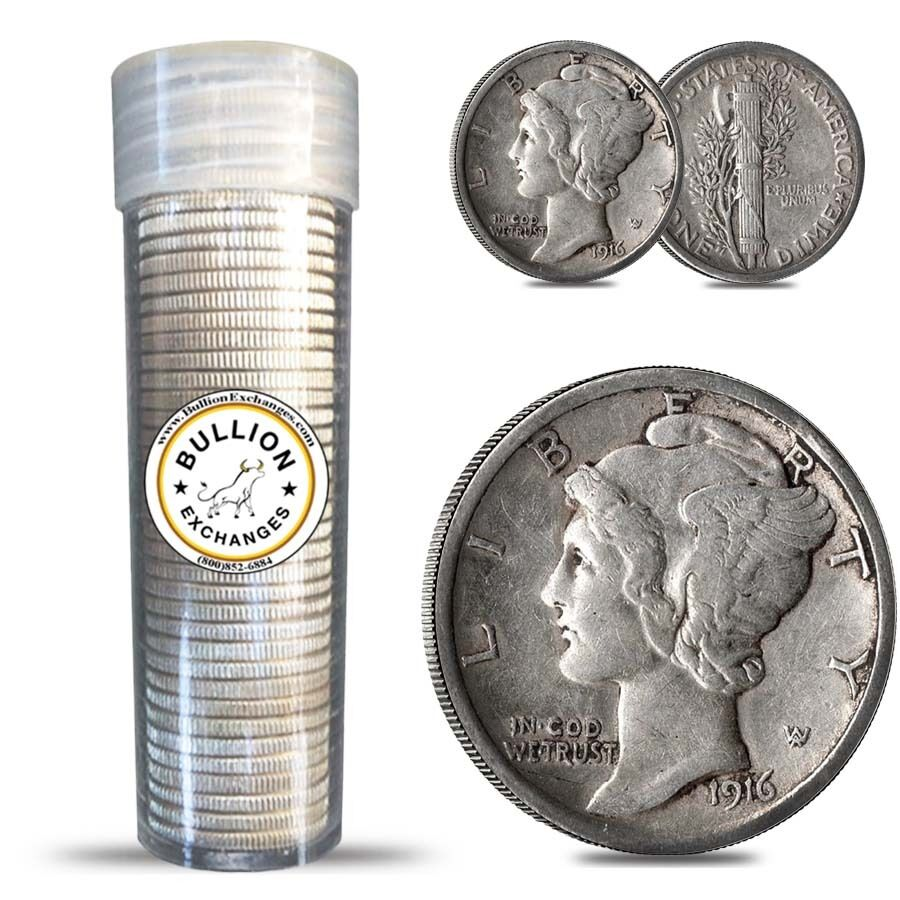 Silver Dimes  90 Silver Roosevelt Dimes  5   APMEX