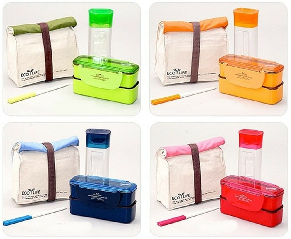 new diet slim lunch box with bag bento water bottle lock lock ebay. Black Bedroom Furniture Sets. Home Design Ideas