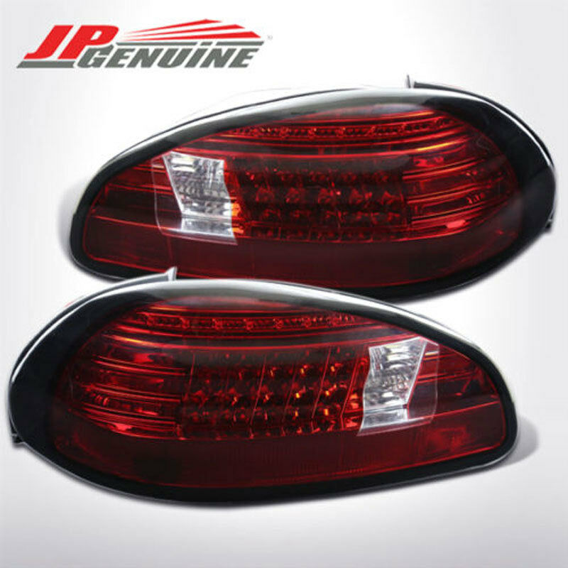 euro style philips led brake tail lights red clear pontiac grand prix 97 03 ebay. Black Bedroom Furniture Sets. Home Design Ideas