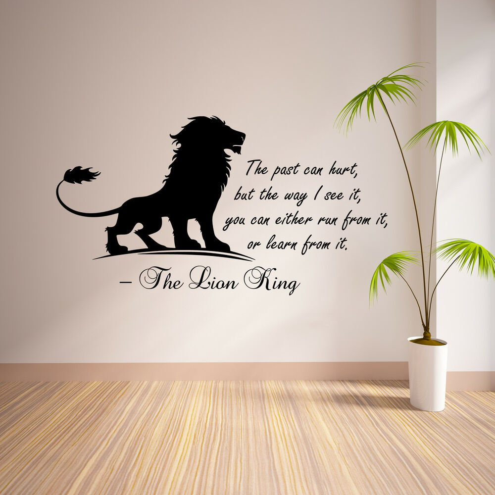 the lion king inspirational wall sticker bedroom quote vinyl decal transfer art ebay. Black Bedroom Furniture Sets. Home Design Ideas