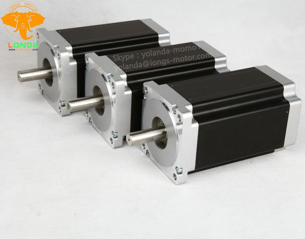 3pcs Nema 34 Stepper Motor 1232 Bipolar 4wires