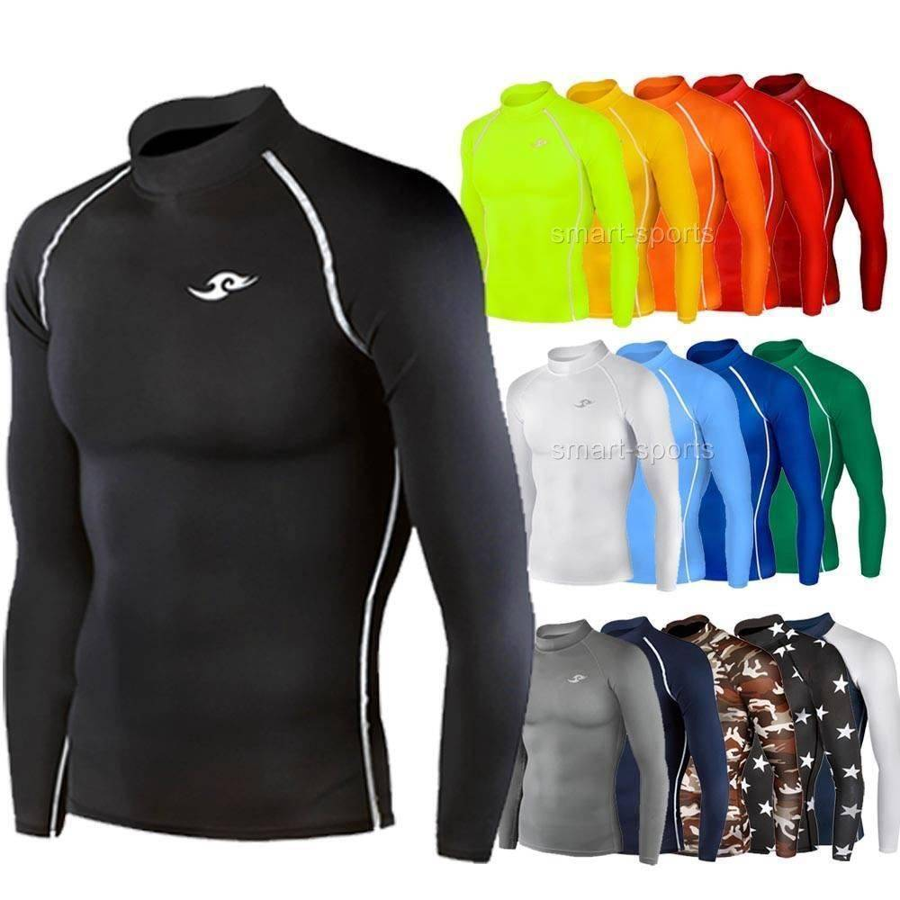 Mens boys long sleeve top sports shirt rugby football for Long sleeve sports shirt