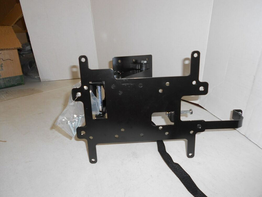 flat screen tv bracket locking swing arm featuring left. Black Bedroom Furniture Sets. Home Design Ideas