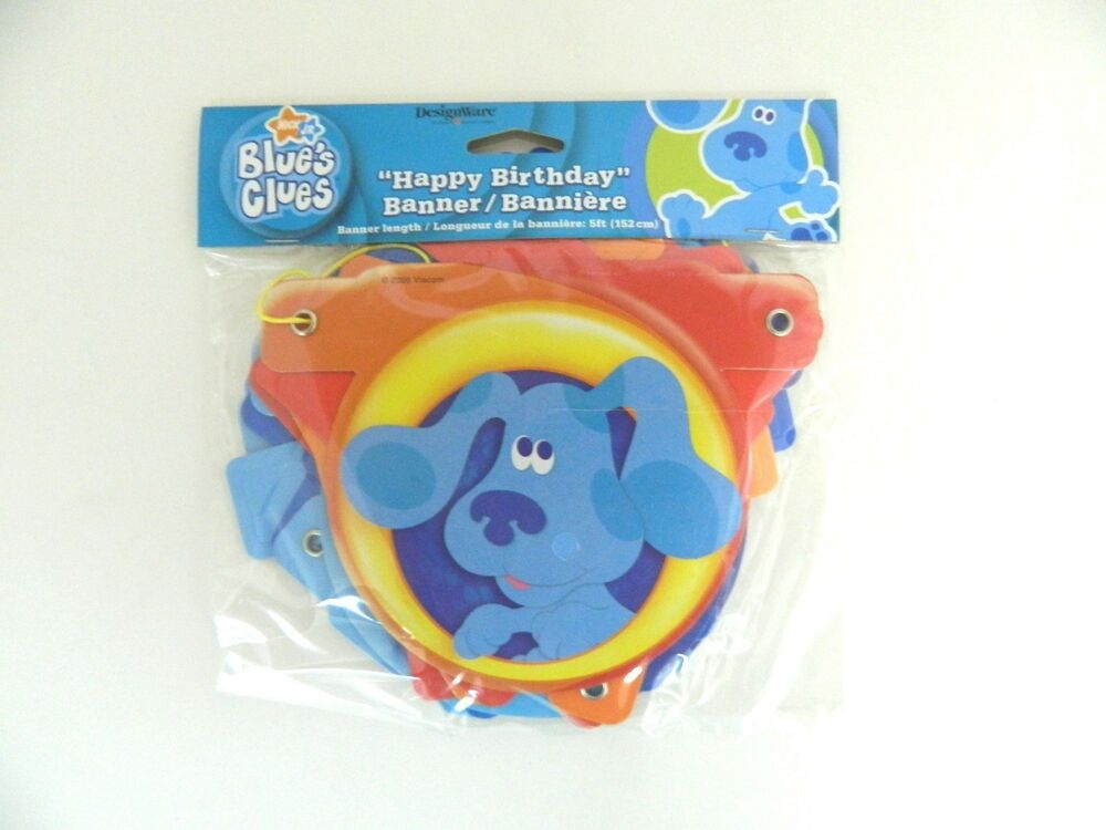 "BLUES CLUES ""HAPPY BIRTHDAY"" BANNER 5 ft. - PARTY SUPPLIES ..."