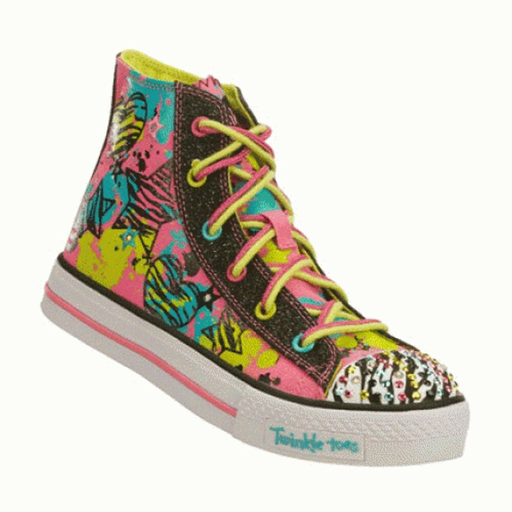 new skechers girls high top twinkle toes with light up. Black Bedroom Furniture Sets. Home Design Ideas