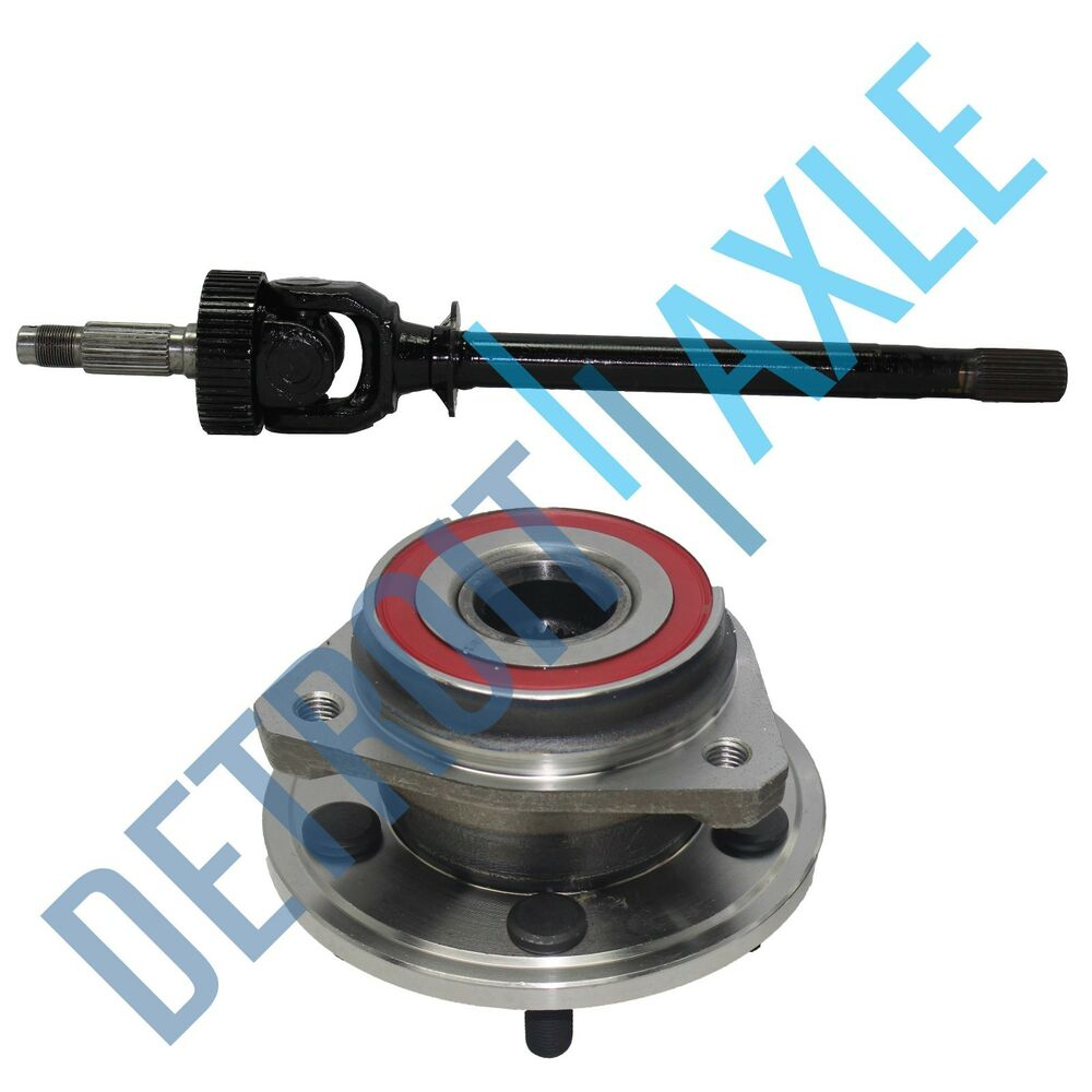 4x4 Front Axle Assembly : New front left cv drive axle shaft u joint and wheel hub