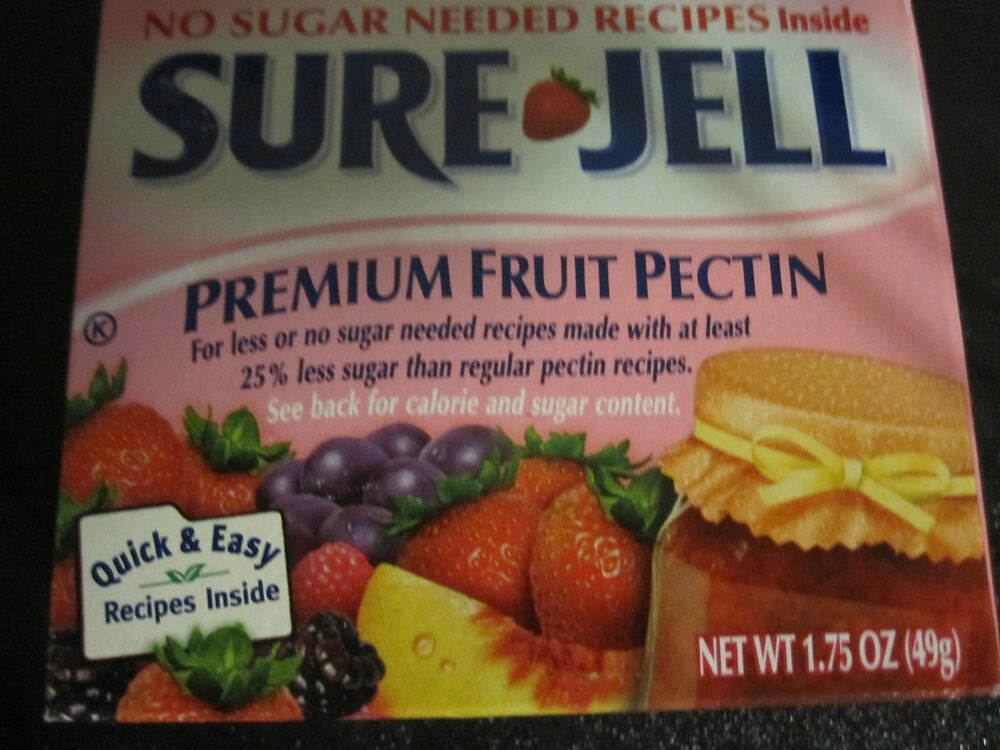 Sure jell premium fruit pectin low or no sugar ebay for Pectine cuisine