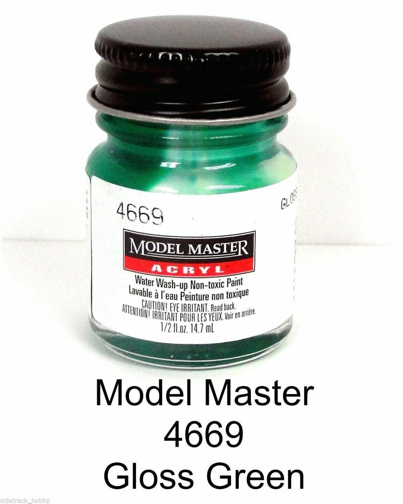 Model master 4669 gloss green 1 2 oz acrylic paint bottle for How to paint bottles with acrylic