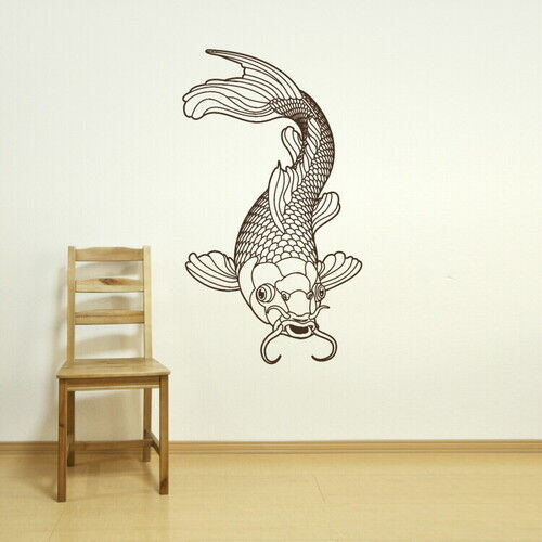 Koi carp pond fish chinese coi wall art sticker transfer for Koi fish wall stickers