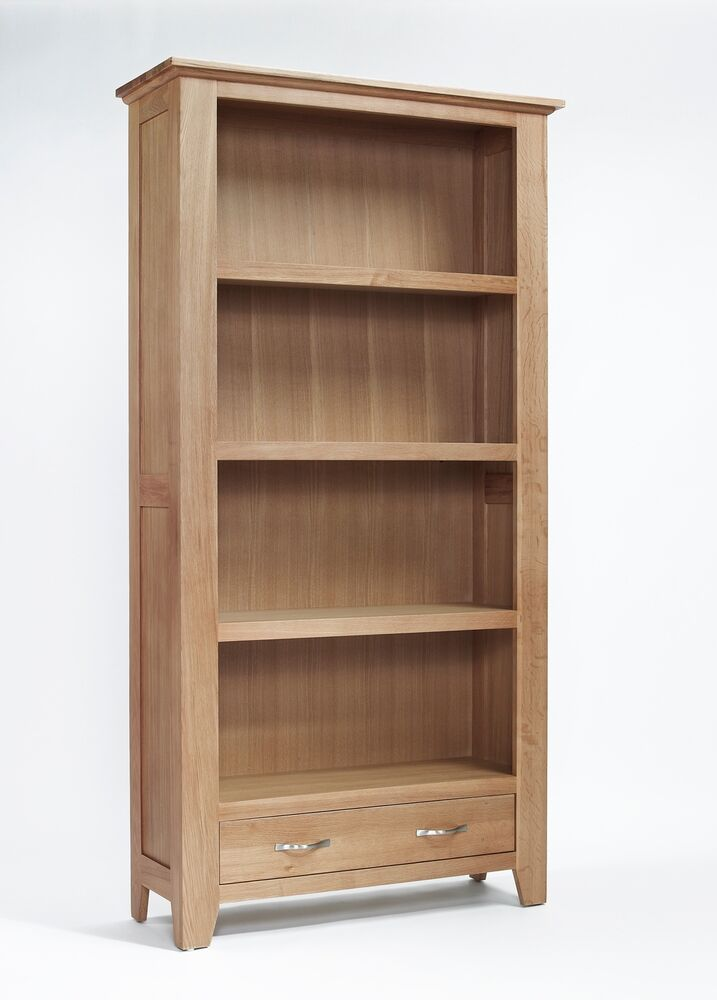 Sherwood Oak Large Bookcase Light Oak Tall Bookcase