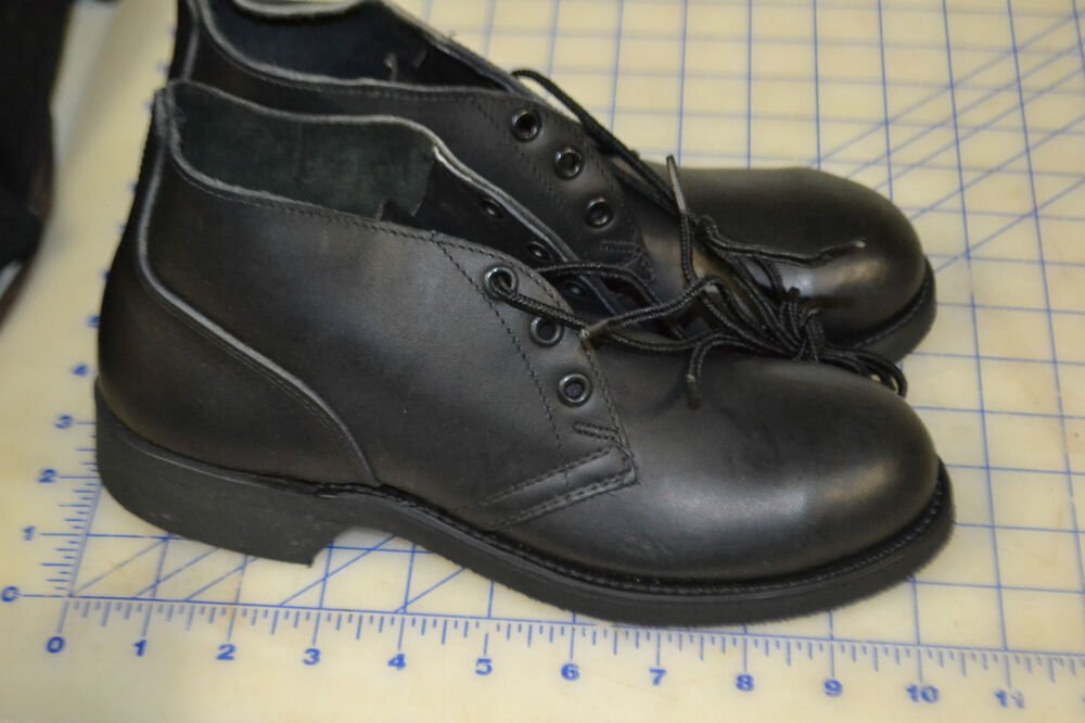 Black Military Chukka Boots Low Top 3 1 2 N Usa Steel Toe
