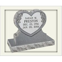 Cemetery headstone monument, 100% granite, gray, engraving included