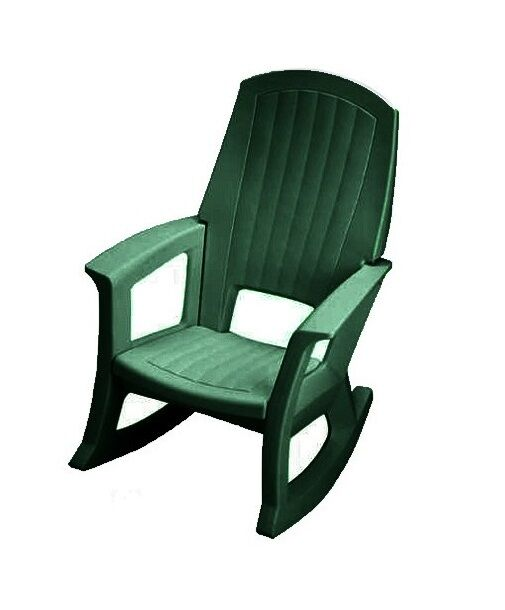 semco plastics green resin outdoor patio rocking chair semg ebay