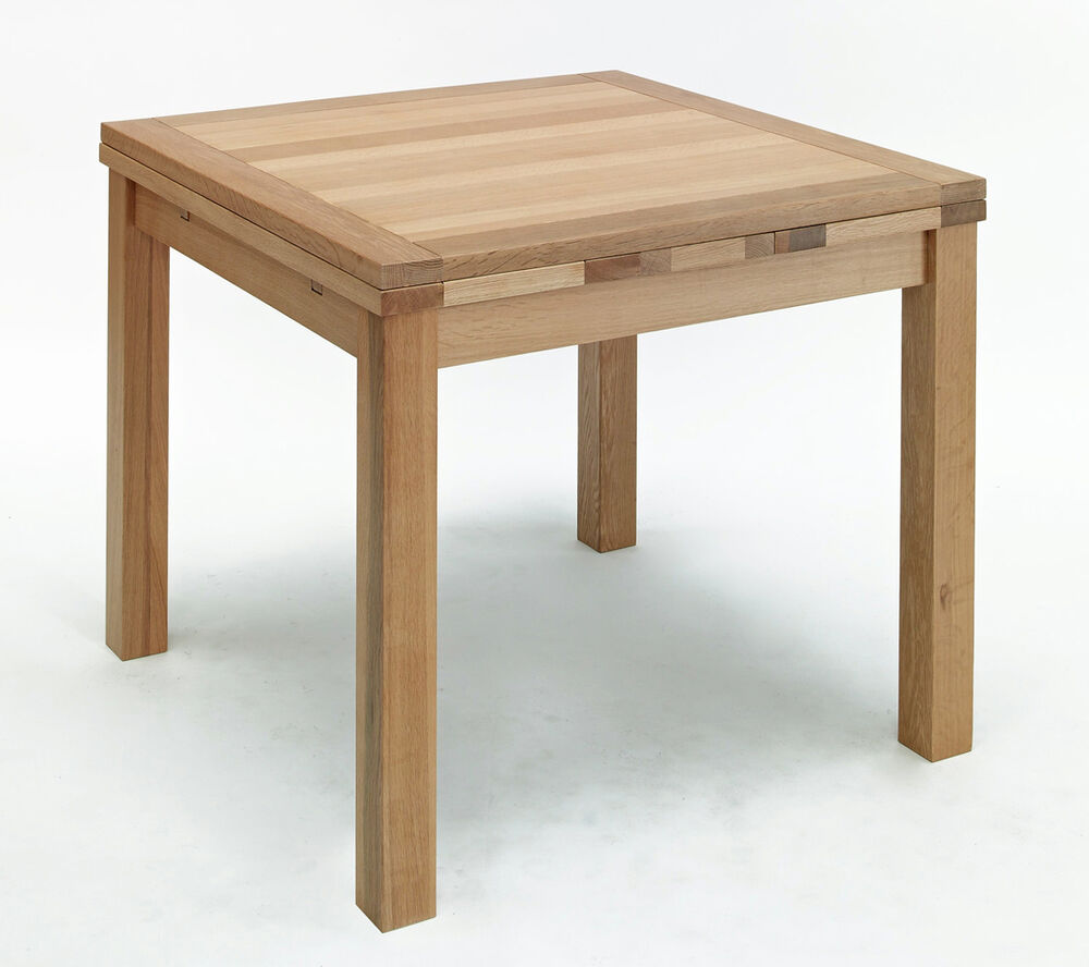 Small Extending Dining Table Light Oak Square Drawleaf Table EBay