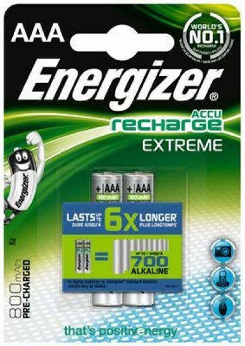 2 x energizer aaa akku 800mah extreme hr03 blister ovp micro accu neu telefon ebay. Black Bedroom Furniture Sets. Home Design Ideas