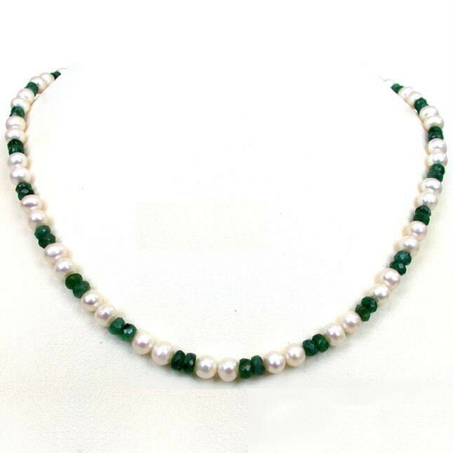 Emerald Bead Beads: She Is My World Freshwater Pearl & Faceted Emerald Beads