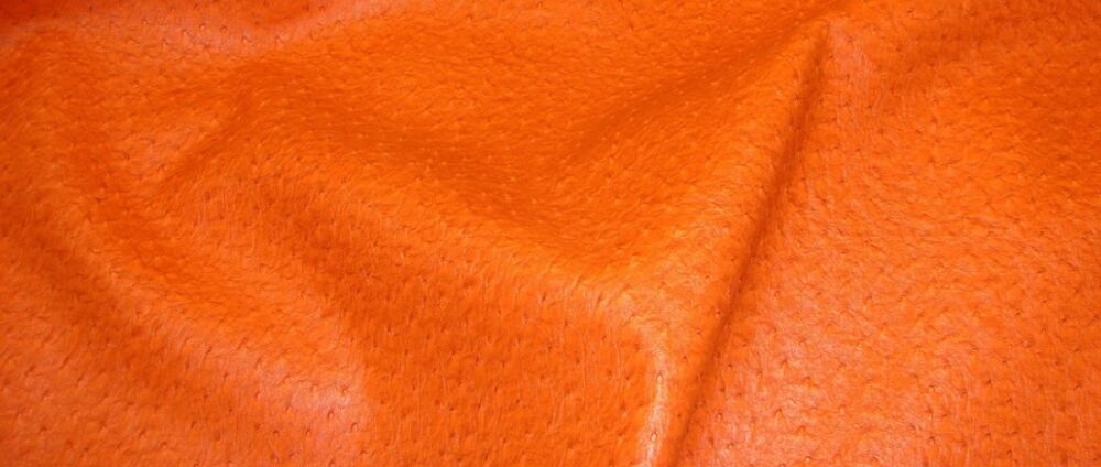 orange ostrich upholstery faux leather vinyl fabric by the yard ebay. Black Bedroom Furniture Sets. Home Design Ideas