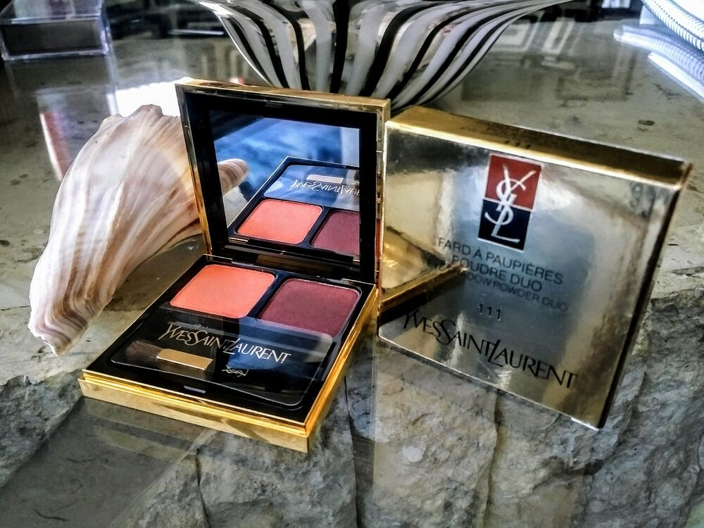 yves saint laurent fard a paupieres 111 eyeshadow duo nib discont ebay. Black Bedroom Furniture Sets. Home Design Ideas