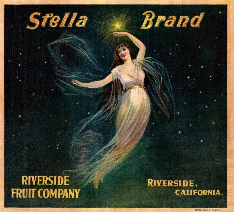 ... Stella Fairy Orange Citrus Fruit Crate Label Vintage Art Print | eBay