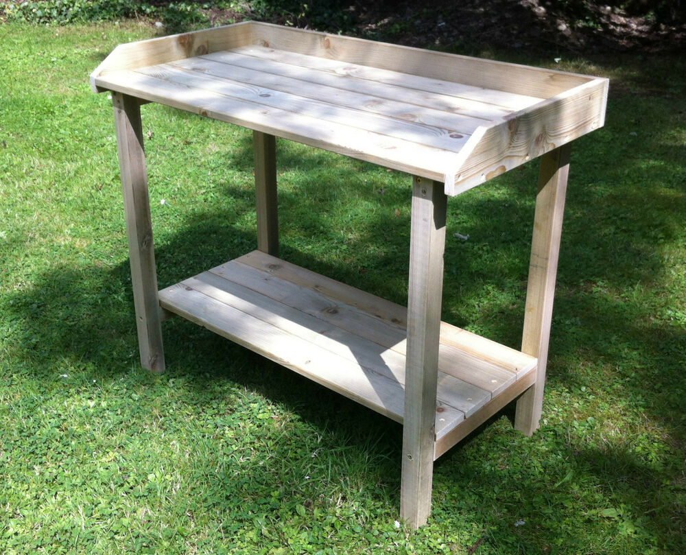 Wooden Greenhouse Garden Potting Table Staging Bench Display Ebay