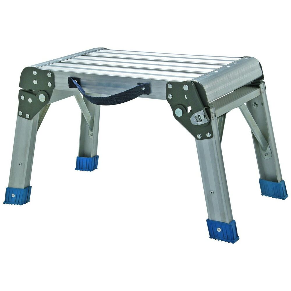 Working Platform Step Stool Folding Aluminum 350 Lb