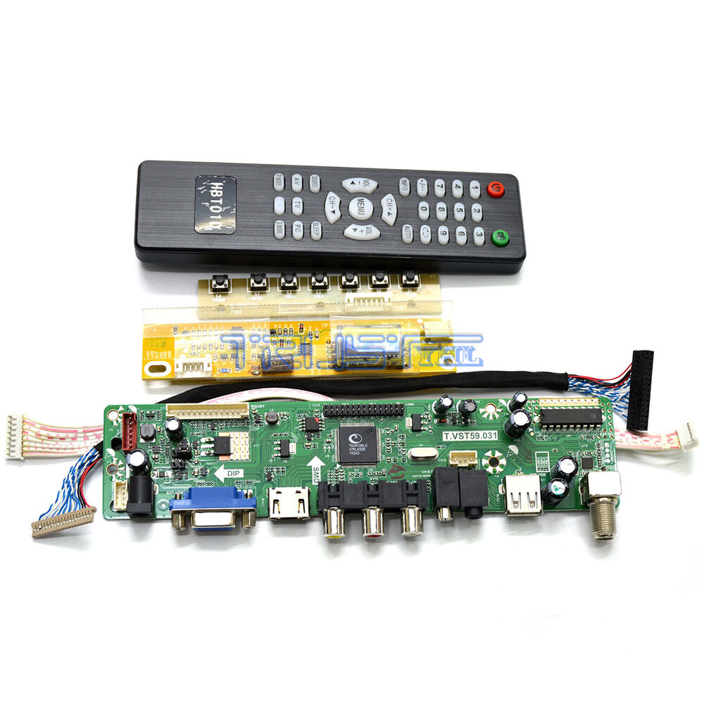 lcd monitor controller board kit for samsung full hd ltn184ht01 a01 panel diy tv ebay. Black Bedroom Furniture Sets. Home Design Ideas