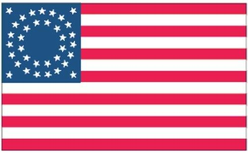 35 Star Round Pattern US Flag 3x5 Ft United States USA