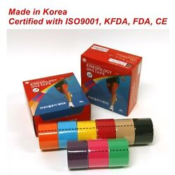 3NS Premium Kinesiology Tape Sports Muscle Care Tex 12 Rolls 9 Colors