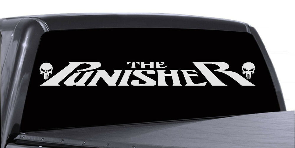 The Punisher Car Windshield Decal Graphic Vinyl Banner