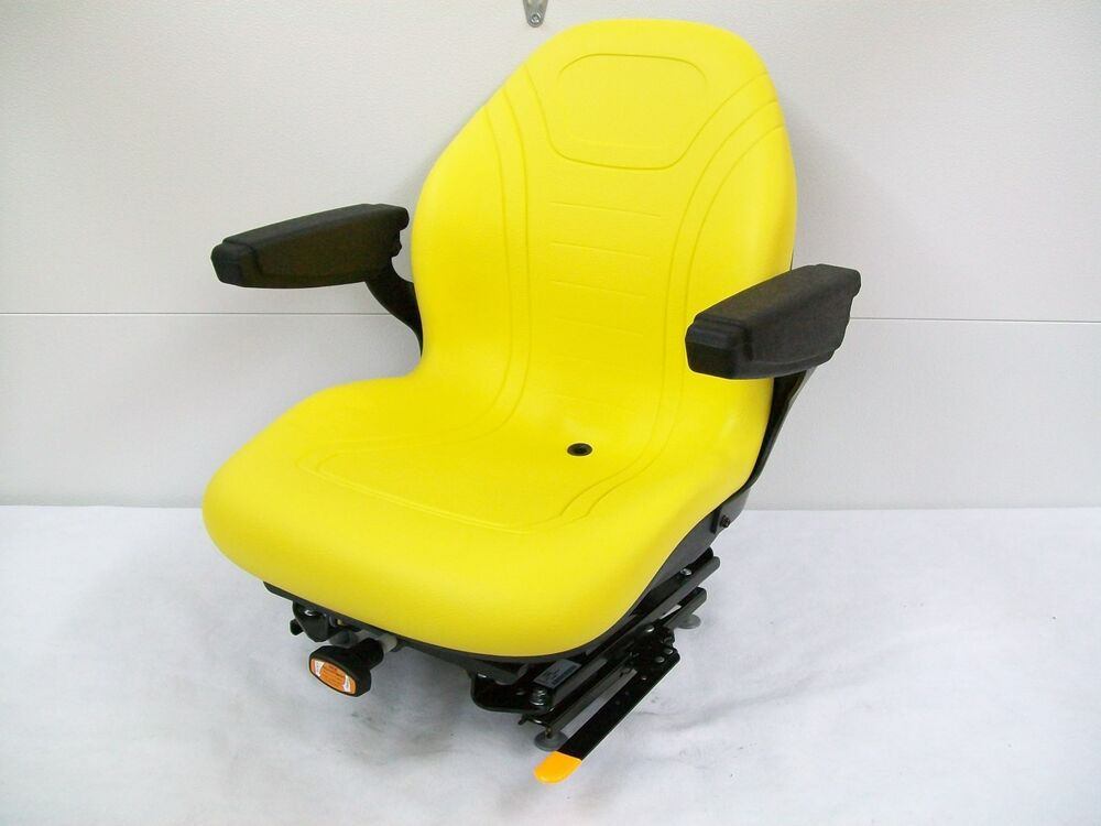 John Deere Riding Mower Seats : Yellow suspension seat hustler exmark toro bobcat bunton
