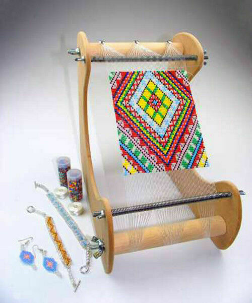 s-l1000 Homemade Bead Loom Plans on hair combs diy loom, homemade paper beads, handmade beaded bracelets on loom, homemade loom for scarves, homemade wood loom, beading loom,