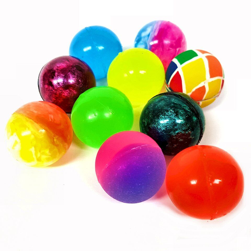 Small Toy Balls : Assorted colour bouncy jet balls bright fun