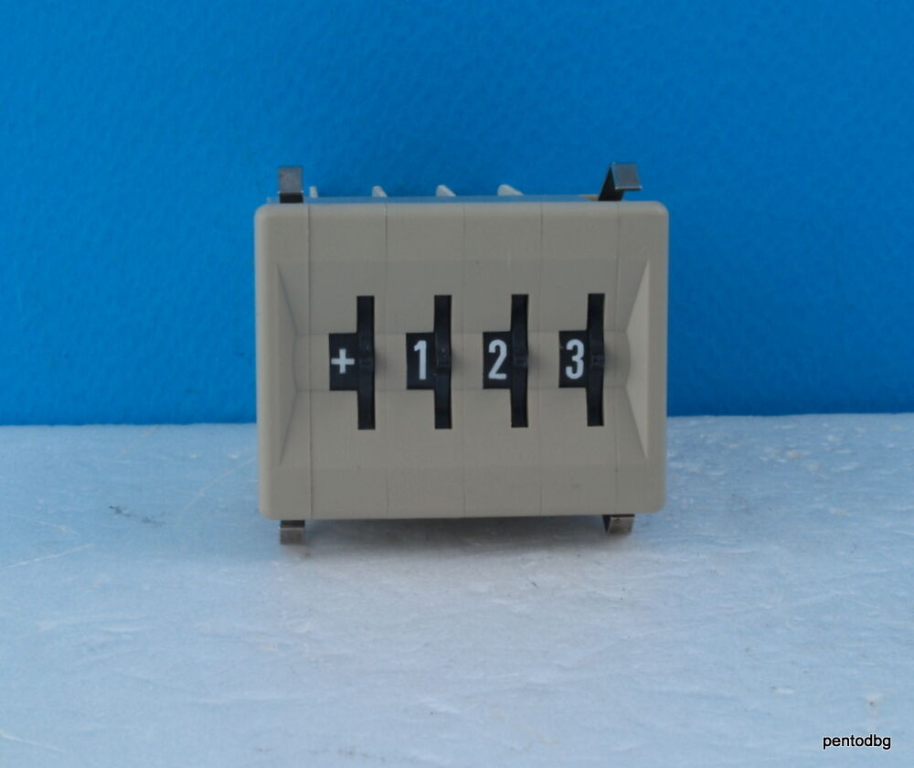 CONTRAVES AG ZURICH THREE DIGIT AND SYMBOL COUNTER M731LS GOLD PINS ...