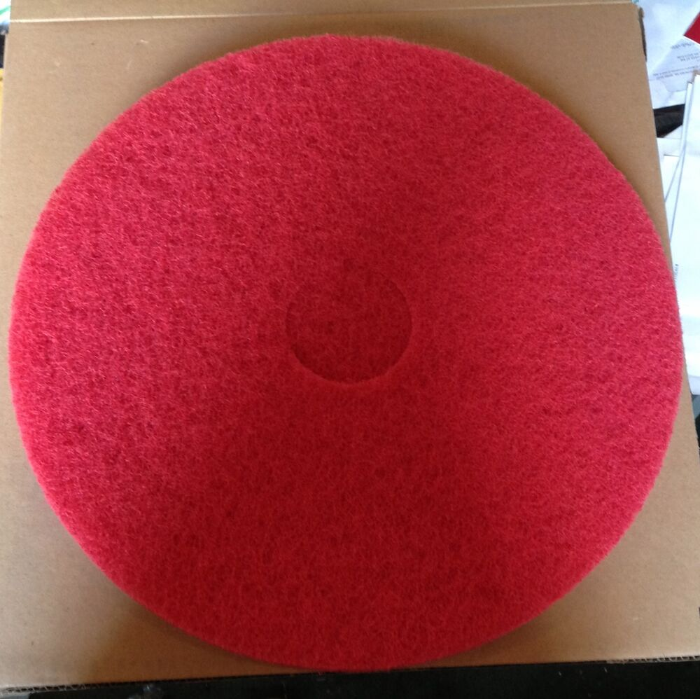 Glit microtron red 17 floor buffing polishing pad ebay for 17 floor buffer pads