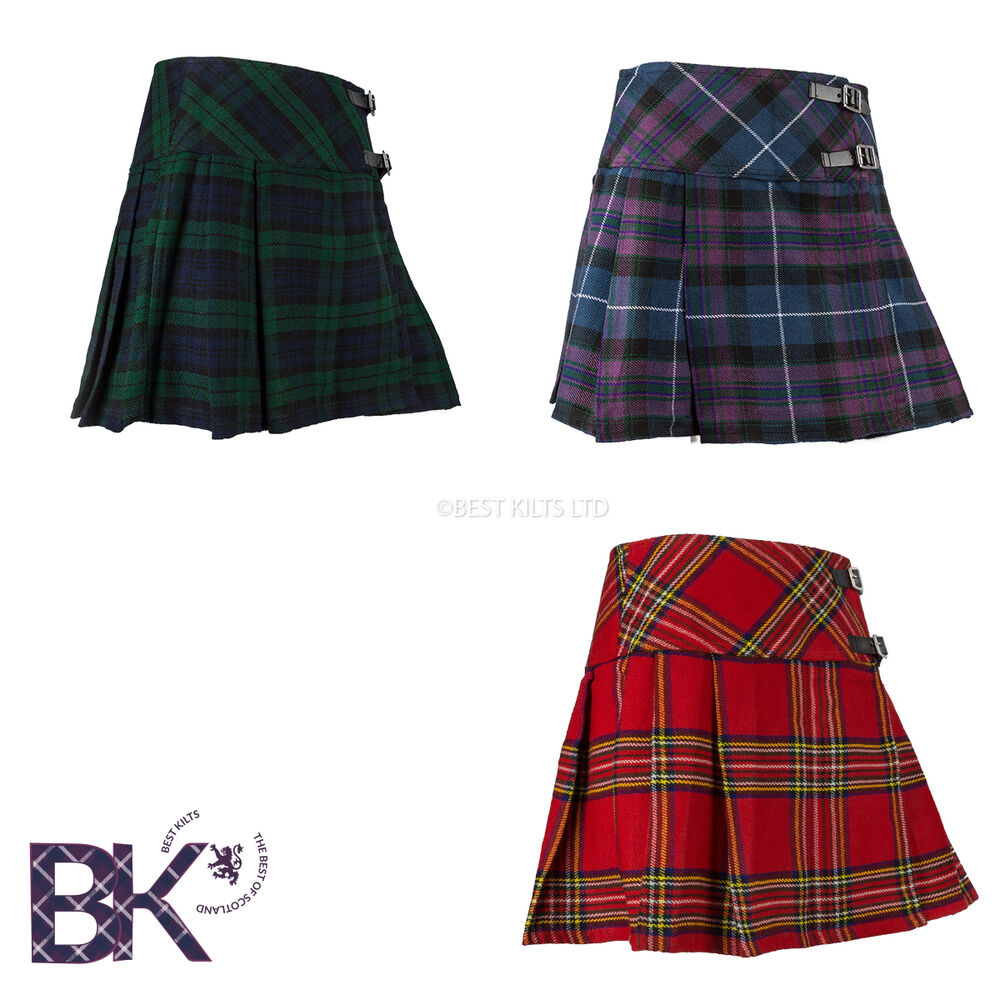 Brilliant Ladies Womens Pleated Red Amp Grey Plaid Check Tartan Mini Skirt Kilt