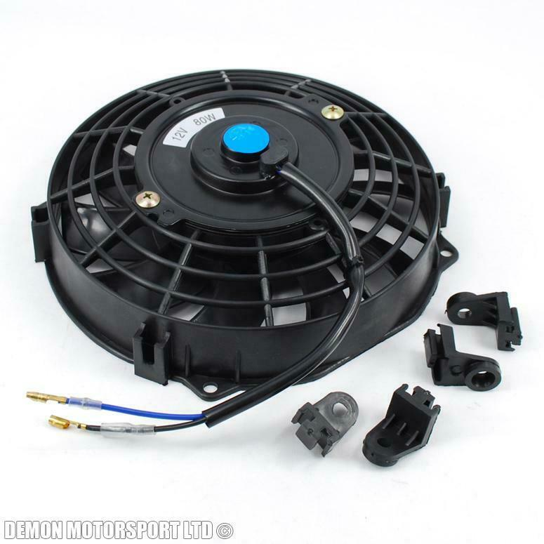 4 Inch 12 Volt Fan : Quot inch volt electric cooling fan push pull for