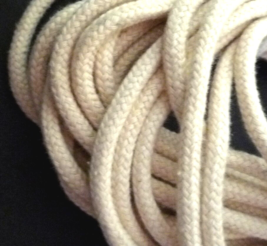 10yd / 9 mt Thick Beige Cotton Cord String Drawstring Rope ...