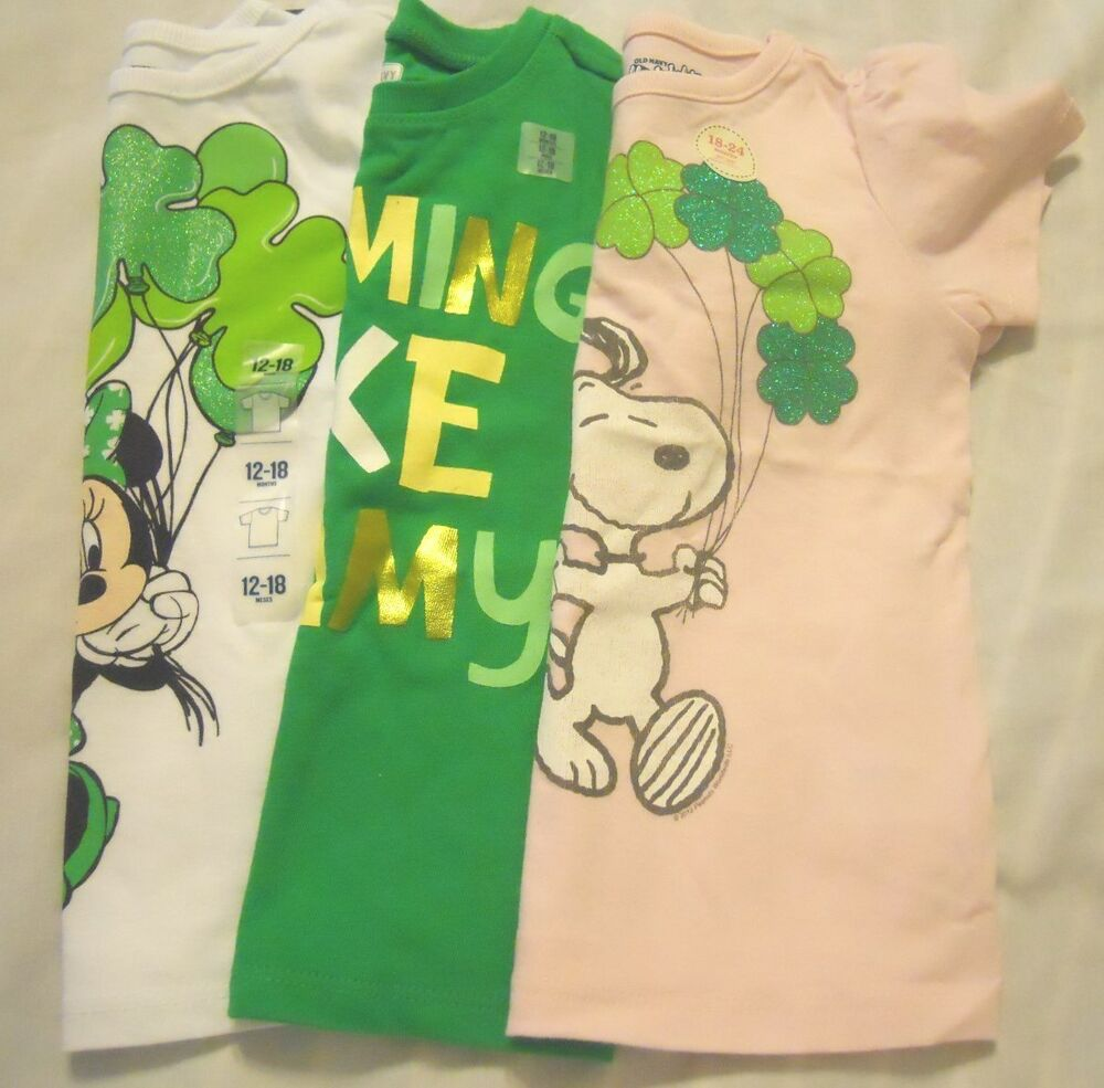 St Patrick's Day Girls Tee Shirt St Patty's Day Old Navy ...