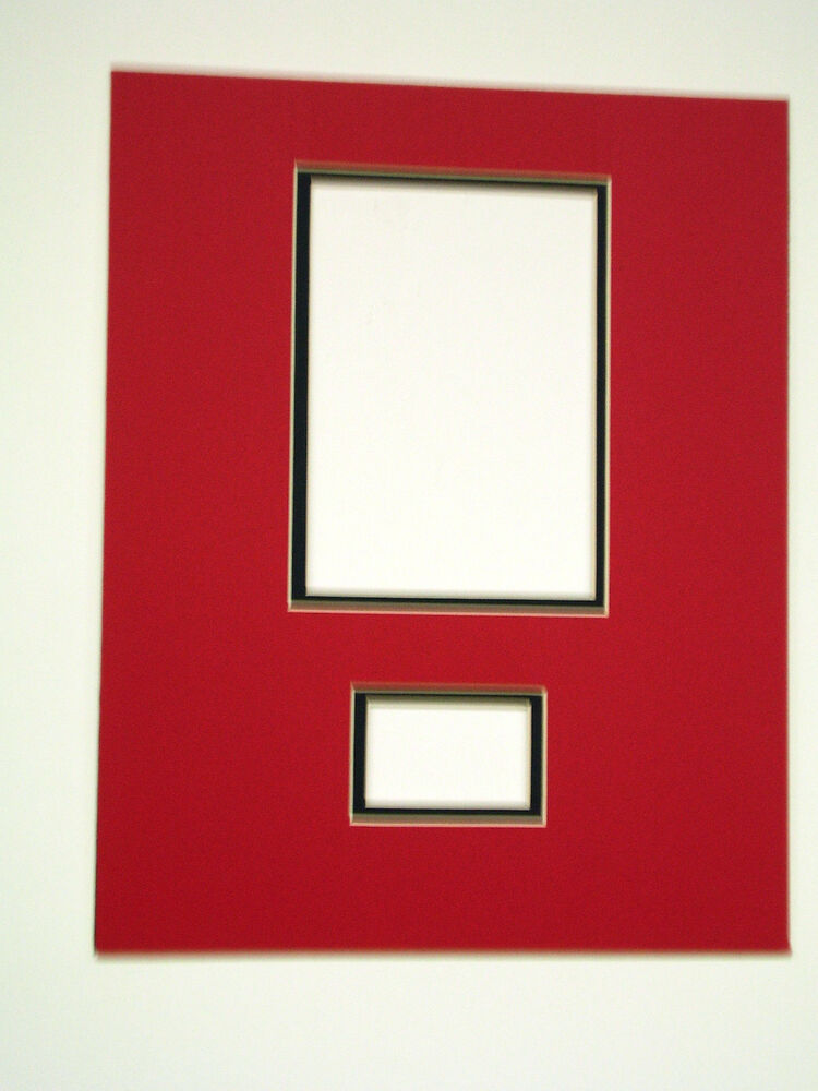 Photo Mat 11x14 Multi Opening 5x7 Photo And Signature Red